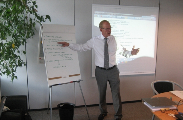 Jorma Siren, the ARGE Chairman on the ExB Meeting in August 2012