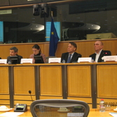 MEP Catherine Stihler and Delegates of the Construction Industy in Europe