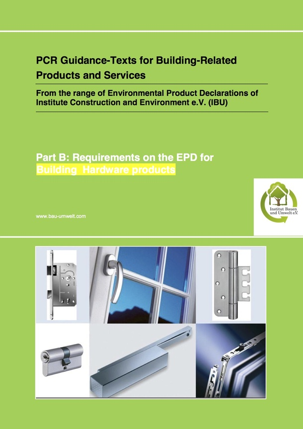 PCR_Building_Hardware Products-EPDs